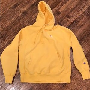 Yellow Champion Reverse Weave Sweatshirt